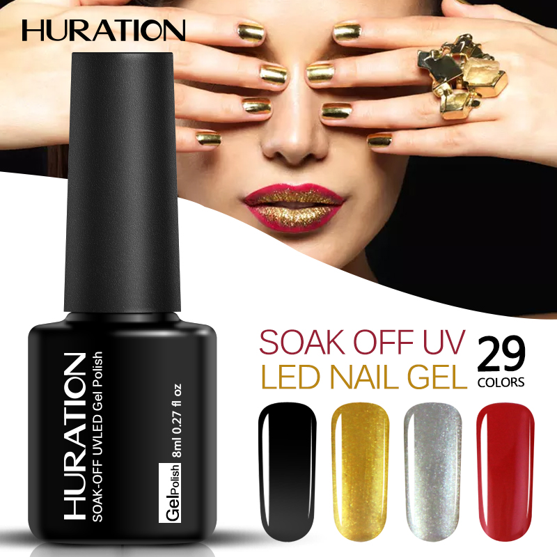 Huration Soak Off UV LED Gel Polish in 29 Colors
