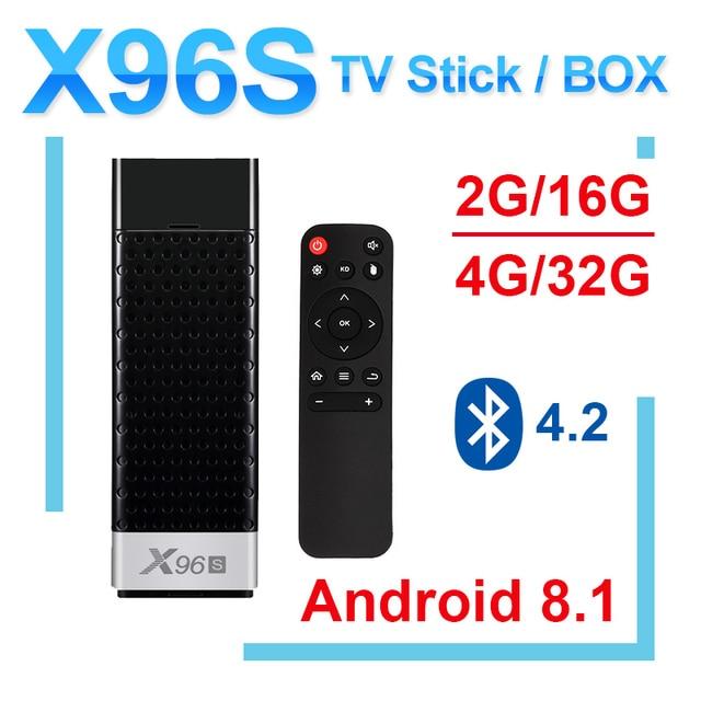 חדש X96S אנדרואיד 8.1 טלוויזיה מקל amlogic s905Y2 H.265 2.4/5G WIFI BT4.2 Core 64bit cortex a53 PK x96 mi ni טלוויזיה תיבת mi תיבה