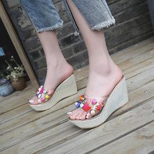 Women Slippers Summer Beach Slippers Flip Flops Sandals Women Pearl Fashion Slippers Ladies Flats Shoes Free shipping недорого