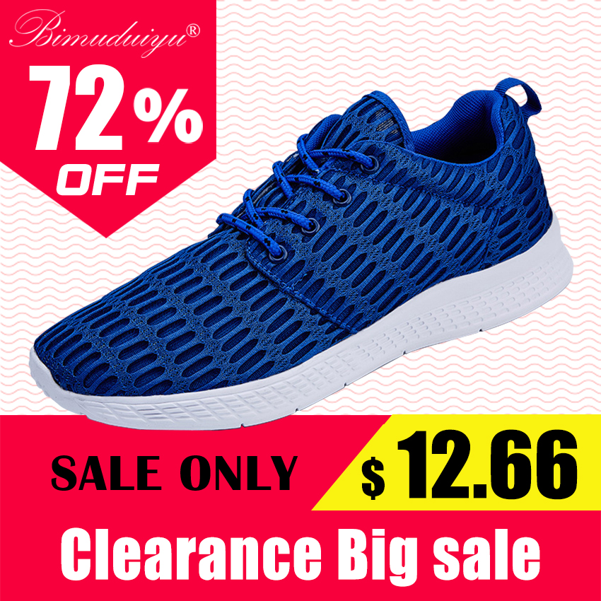 BIMUDUIYU 2017 NEW Fashion Men Casual Shoes Breathable Mesh Lace-Up Flats Shoe Large code Sneakers zapatillas deportivas 38-48