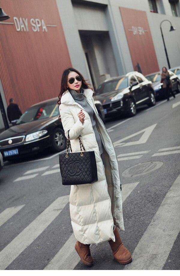 2018 nuovi cappotti invernali plus size bianco nero navy blu win rosso delle donne piumino