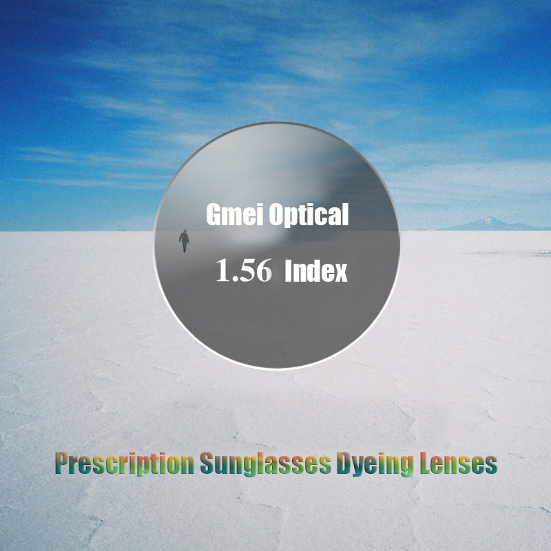 New Arrival Radiation Protection 1.56 Standard Index Dyeing Prescription Lens HMC EMI Anti UV Optical Tinted Lens For Sunglasses