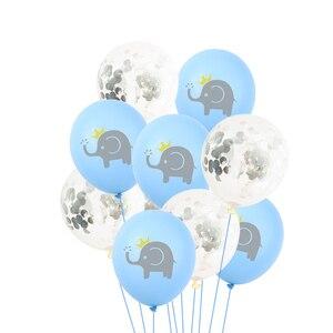 Image 2 - 10 Pcs 12 inch Cartoon Latex Ballonnen Kinderen Verjaardagsfeestje Decoratie Blauw Roze Olifant Baby Shower Ballonnen Decoraties Favor