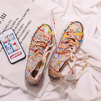 Moda mujer 2019 new Fashion Women Sneakers Casual Female Summer Canvas Shoes Trainers Lace Up High end shoes tide Yasilaiya