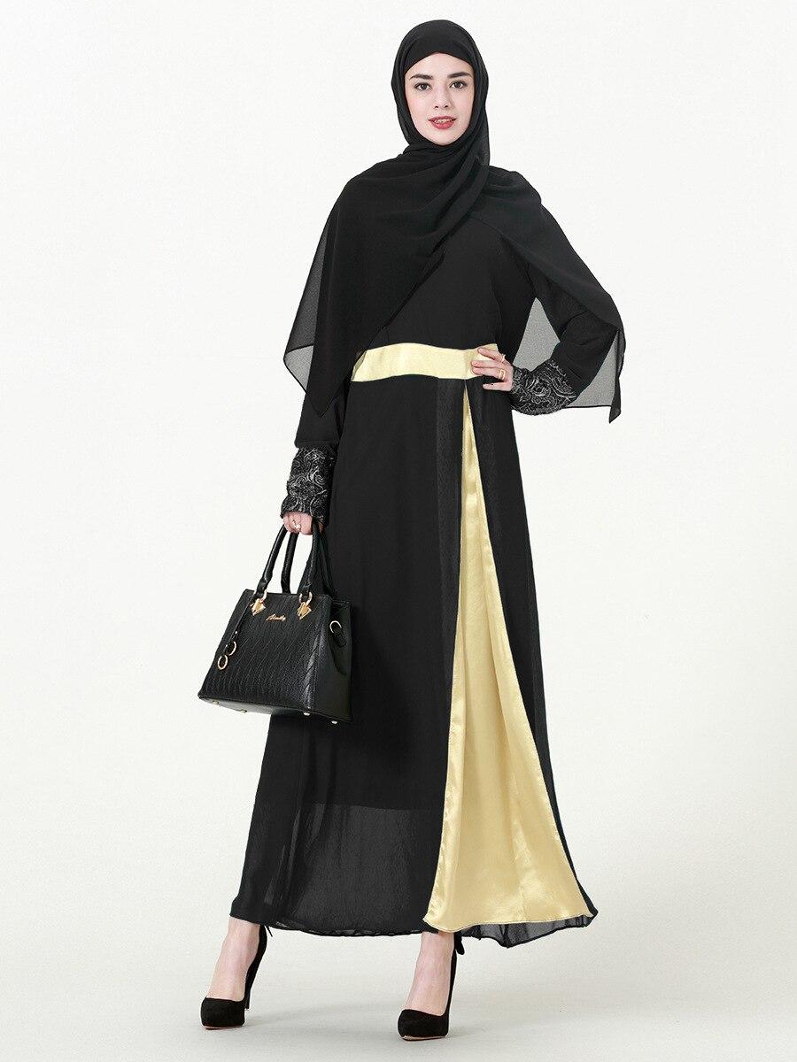 2016 Appliques nouveau Jilbabs et Abayas Caftan arabe vêtement Abaya turquie au moyen-orient femmes musulmanes robe de mode grande taille