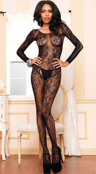 Sexy open crotch BodyStocking Crotchless 1