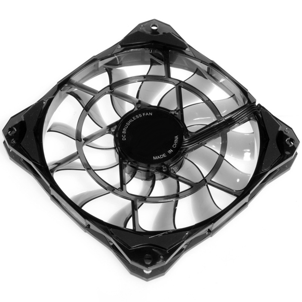 Slim <font><b>15mm</b></font> Thickness, Best for Small Case, Big Airflow of 53.6CFM 120mm PWM Controlled <font><b>Fan</b></font> With De-vibration Rubber image