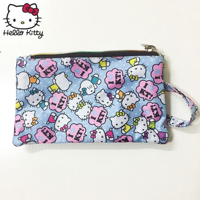 Hello Kitty Cute Cartoon Makeup Bag Gift Pendant Purse Women Girl Clutch Purse Wrist Bag Make Up Wash Beauty Girl Plush Backpack in Plush Backpacks from Toys Hobbies