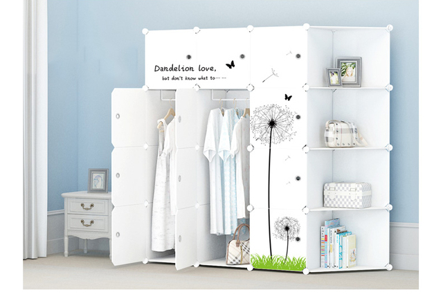Free shopping Hot selling 24 kinds of simple assembly of plastic wardrobe,