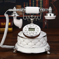 Wireless mobile card antique telephone telephone landline phone phone new European white diamond Landline art gift craft