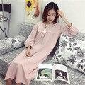 100% Algodão Rosa Vestido de Maternidade para As Mulheres Grávidas Mais Grande Tamanho da Roupa de Maternidade Gravidez Roupa Sleepwear Strapless