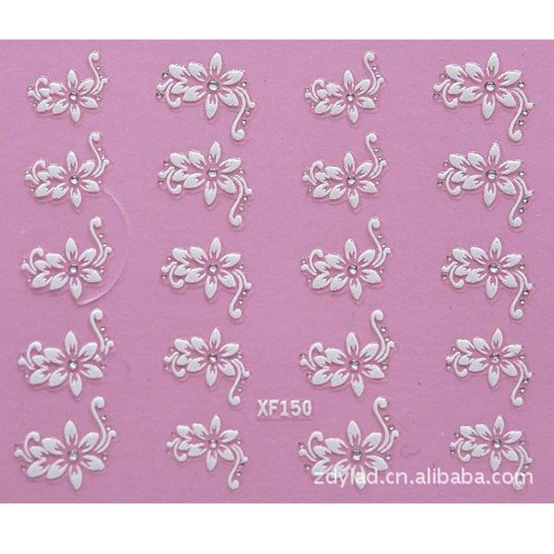 3D flower design Water Transfer Nails Art Sticker decals lady women manicure tools Nail Wraps Decals wholesale