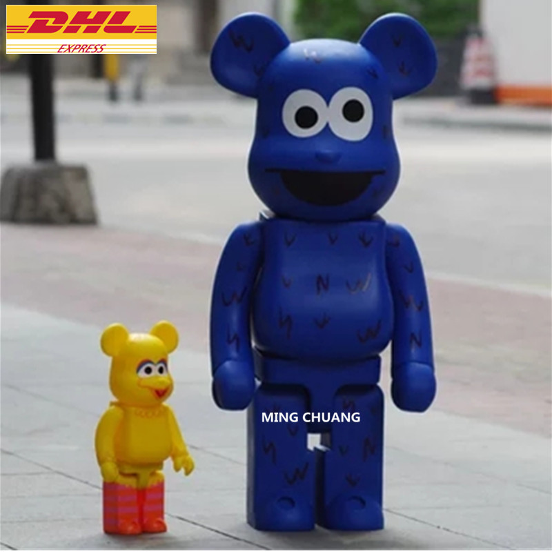 "27"" Be@rbrick Gloomy 1000% Bearbrick BB Basic X Sesame Street Vinyl Action Figure Collectible Model Toy 70CM D387"