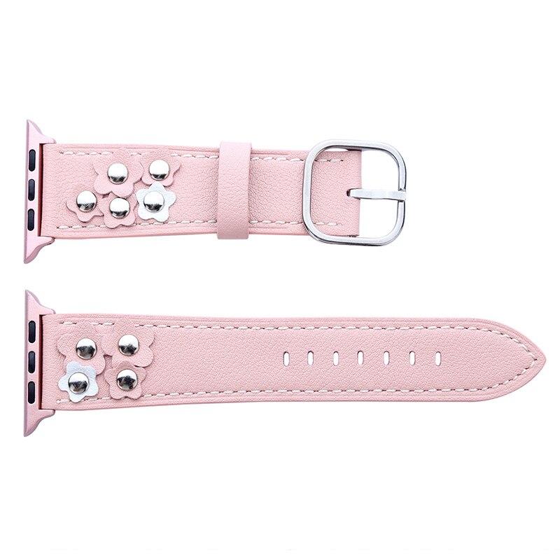 Bucle de cuero genuino FOHUAS para Apple Watch 5 bandas 44 mm 42 mm - Accesorios para relojes - foto 3
