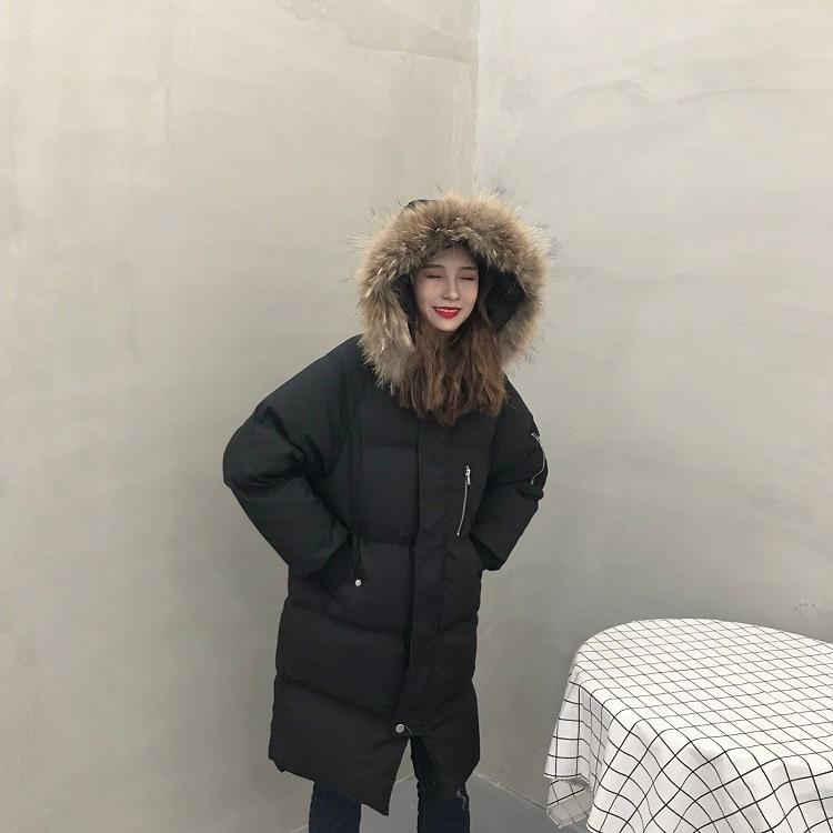 De Capuchon Raton Femmes Collier Veste Long Chaud Laveur Grande Doublure 2019 Mode Hiver Manteau À Nouvelles Luxe Fourrure Parkas pP0KxEw