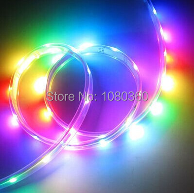 Best Price 1m 5m WS2811 addressable led pixel strip 5050 RGB full color 30/48/60leds/m DC12V flexible pixel rope light