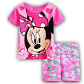 2016 new style of Pure Cotton Pink Minnie style clothes, children's clothing, summer clothing, clothing, cartoon pajamas, F1