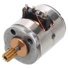 1 шт. мини микро шаговый двигатель 8x9,2 мм Ювелирные наборы с маленьким 2-фазный шаговый двигатель 4-проводной с Медь Шестерни для мотора Запчасти