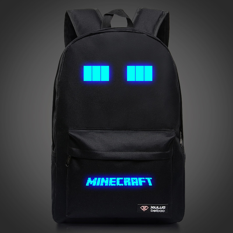 2019 Minecraft Backpacks Canvas High Quality Backpack Children School Boys And Girls Back To School Glowing Bags