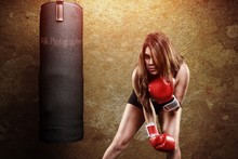 sports sexy women boxing YR303 living room home wall modern art decor wood frame poster