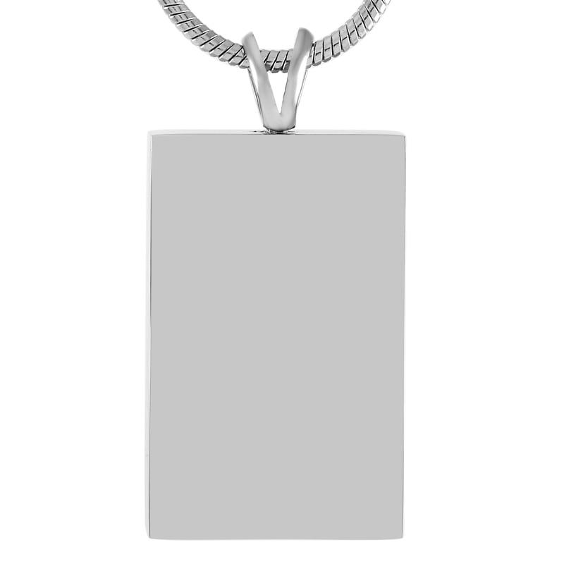 Rectangle Ash Holder Necklace