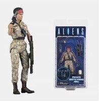 Genuine NECA Alien VS Predator Battle Damage headshot Alien Camouflage Female soldier Jenette Ripley Action Figure Model