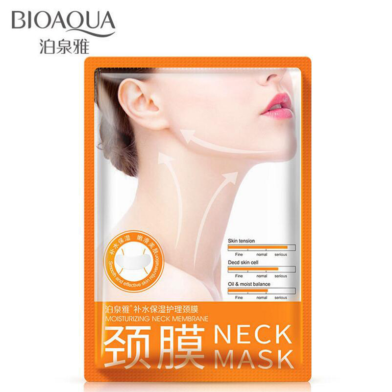 BIOAQUA Anti Aging Neck Mask Anti Wrinkle Skin Care Whitening Nourishing Best Neck Cream Tighten Neck Lift Neck Firming(China)