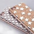 Moseko moda tampa do pó glitter case para iphone 7 plus bling espumante luxo silicone macio tpu case capa para iphone7 além de