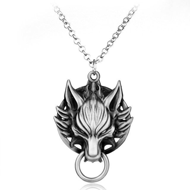 Online shop final fantasy cloud wolf head metal necklace final fantasy cloud wolf head metal necklace mozeypictures Choice Image