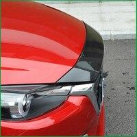 Автомобиль голове стиль чехол накладка для Mazda 3 Axela M3 2017 передняя решетка головы двигателя, капот автомобиля литья под крышкой крышка отделк