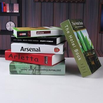 wholesale 10PCS Vintage Home Home decoration modern book props books decoration Strong Home Antique Decorative model