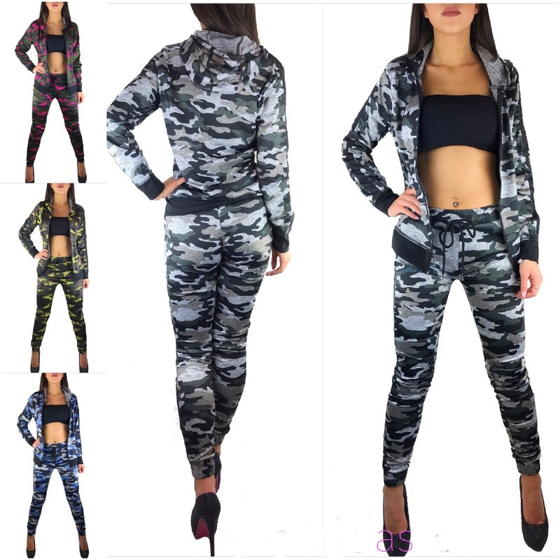 ZOGAA 2019 Women Long Sleeve Long Pants Suits Two Pieces Set Sporting Tracksuit Outfit Hoodie Top and Pant Tracksuit Women Sets Price $43.20