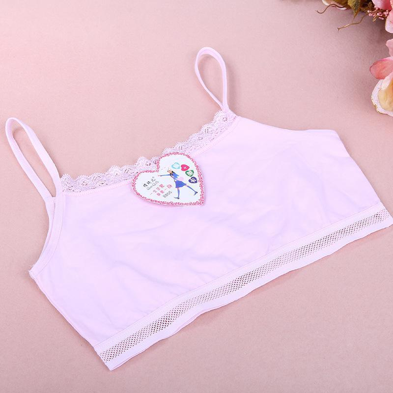 Hot selling 2015 Girl students development small vest underwear bra student network ventilation sling Puberty young - Hangzhou Ailiqi Garment Co., Ltd. store