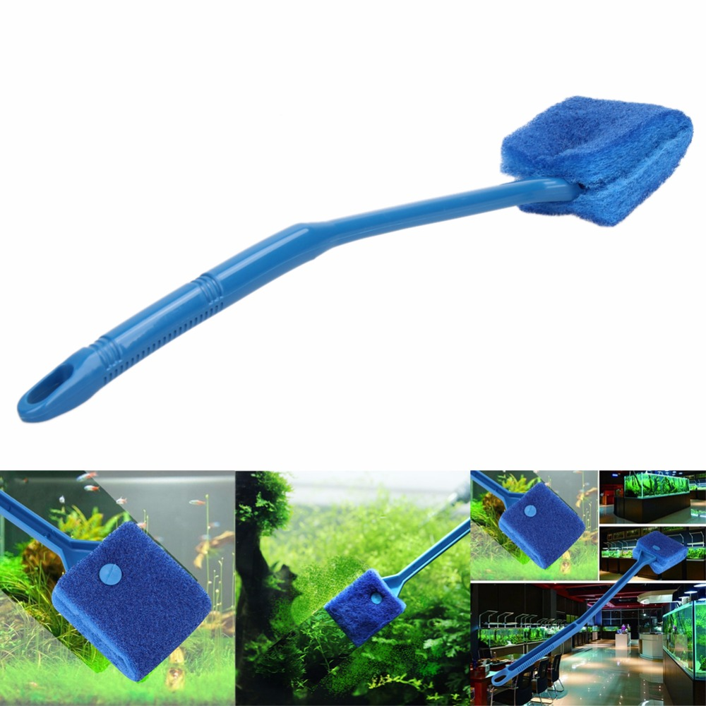 Fish aquarium glass cleaner - 2pcs Aquarium Fish Tank Algae Cleaner Glass Plant Easy 2 Head Cleaning Brush V1nf China