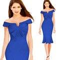 Новый Европейский женская мода dress передней грудной клетки и более сложить талии рыбий хвост dress