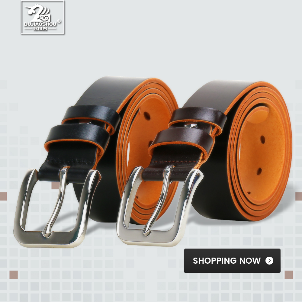 DUJIAOSHOU Pin buckle belt fashion casual pants with simple male belt DJS9590 008 in Men 39 s Belts from Apparel Accessories