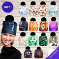2017 3D Animal Print Women Hats Autumn and Winter Cap Multi Colors Unisex Hat Fashion Lady Hats Ball Pom Skully Beanies PY213
