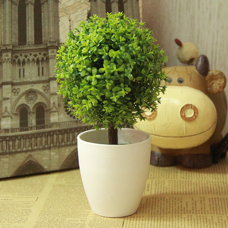 new arrival artificial topiary tree ball plants in pot colorful fake Artificial Topiary Trees