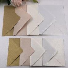 Прямая 4 шт квадратная/прямоугольная жемчужная конверты 4 свадебные/открытка-приглашение RSVP слоновая кость/белый/светильник розовый/золотой