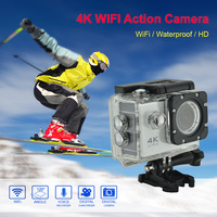 F60 Wifi Action Camera Ultra HD 4K 30fps Mini Helmet Cam WiFi 2.0 Waterproof Underwater Diving Sport Camera Video Recording