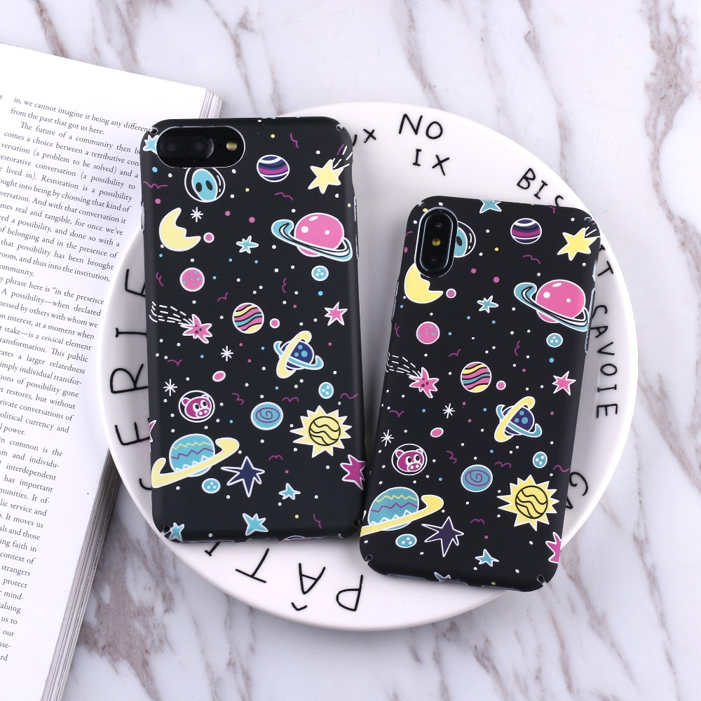 Cellphones & Telecommunications Intelligent Tomocomo Cartoon Airship Astronaut Stars Moon Case For Iphone 8 8plus Case Over Hard Pc Phone Cases For Iphone7 7 Plus Capa Half-wrapped Case