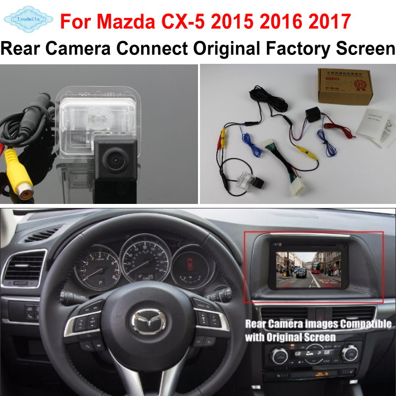 Lyudmila PARA Mazda CX-5 CX 5 CX5 2015 2016 2017 RCA y pantalla compatible original / Cámara de visión trasera para coche / HD Conjuntos de cámara inversa