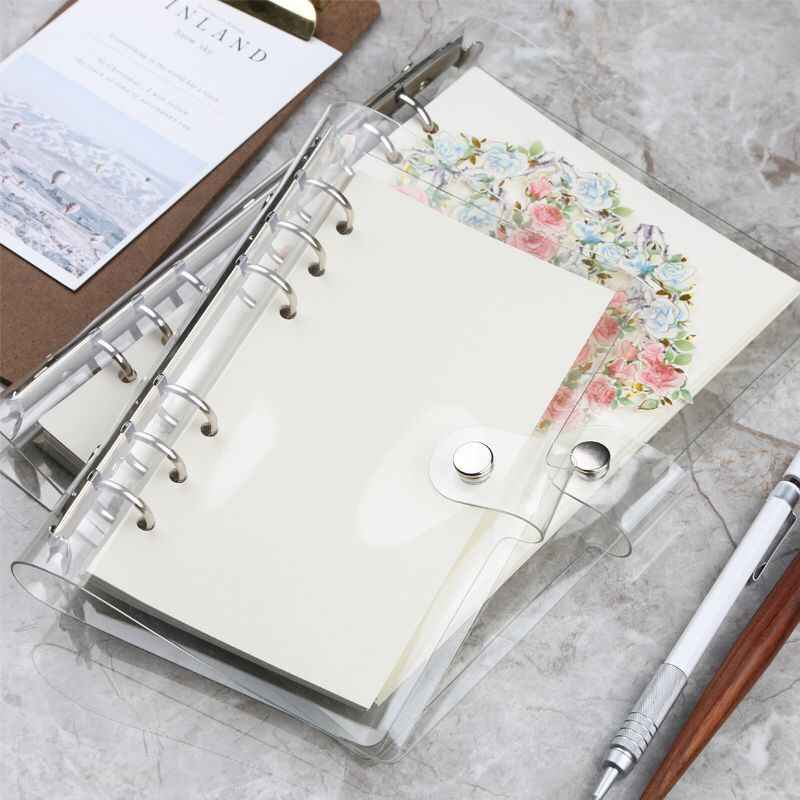 A7//6//A5 Loose Leaf Ring Binder Notebook Weekly Monthly Planner Diary Clear Cover