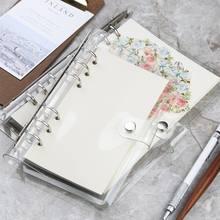 A5 A6 Spirale transparent PVC Notebook Abdeckung Lose Tagebuch Spule Ring Binder Füllstoff Papier Separate Planer Empfangen Beutel Karte Lagerung