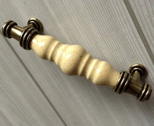 96mm antique Brass Kitchen Cabinet Dresser handles Bronze Drawer Cupboard  Wardrobe furniture Handle pull knob cream - Compare Prices On Ceramic Handles Drawer- Online Shopping/Buy Low