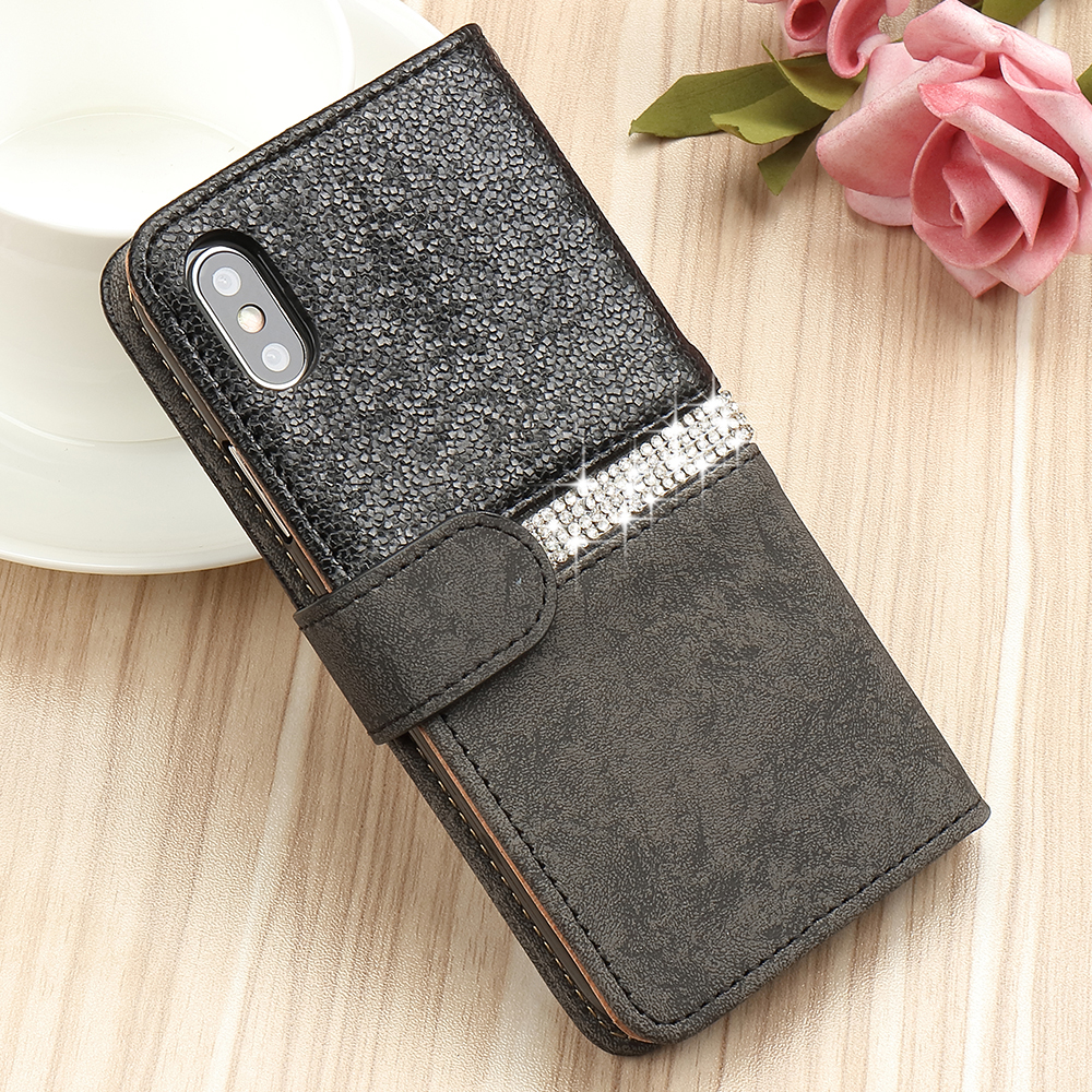 HTB1HgzNX7Y2gK0jSZFgq6A5OFXaL - Bling Glitter Wallet Phone Case For iPhone X Xr Xs 11 Pro Max Leather Purse For Apple 6S 6 8 7 Plus 5 5S SE 2020 360 Girls Cover