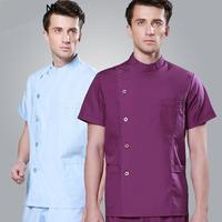 Nurse Scrubs Suit Men and Women Short Sleeve Dentists Uniform ICU Single Breasted Dental Doctor Uniform Lab Clothing Sets Retail