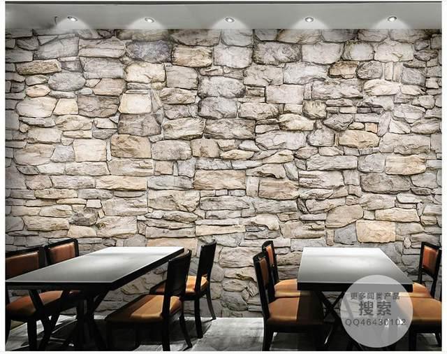 papier peint 3d pierre decoration salon sejour moderne papier peint imitation bois pierre et. Black Bedroom Furniture Sets. Home Design Ideas