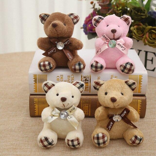 9 CM Popobe Urso de Peluche Bonito Brinquedos de Pelúcia Saco Chave Do Carro Chaveiro suporte para Pingente Boneca Crianças Brinquedos de Pelúcia Animais Urso Fofo B0903