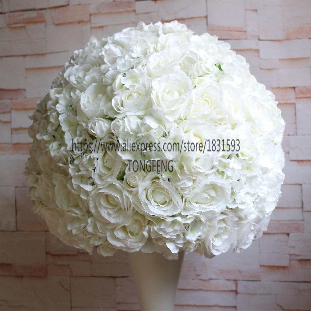 wedding road lead flower ball artificial flowers wedding table ...